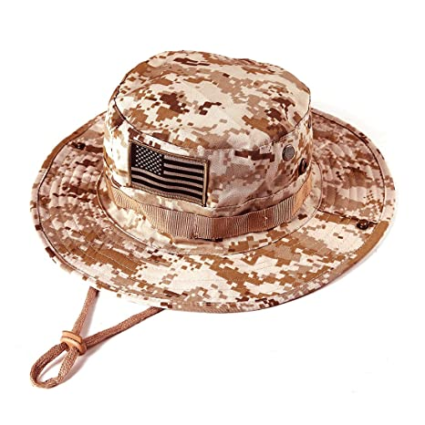 637ae8111a190 Image Unavailable. Image not available for. Color  massmall Military  Tactical Head Wear Boonie Hat Cap ...
