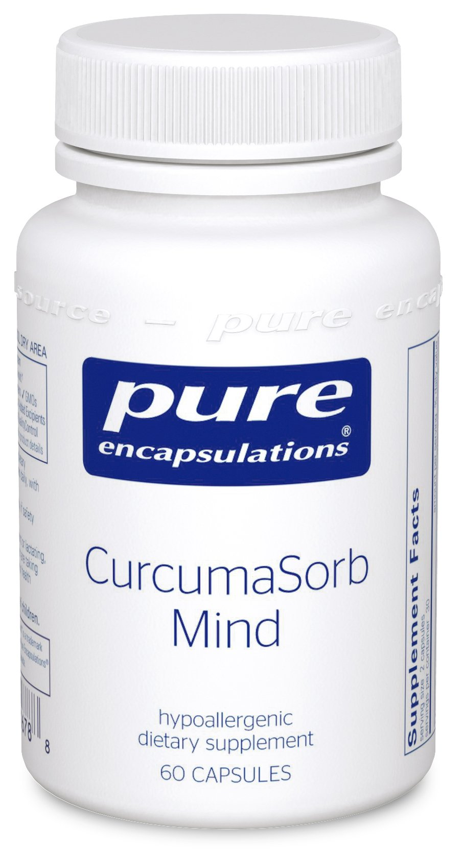 Pure Encapsulations - CurcumaSorb Mind - Hypoallergenic Blend with Curcumin and Polyphenols to Promote Mood, Memory and Mental Sharpness* - 60 Capsules