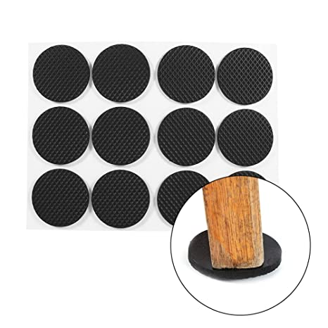 Iktu Self Adhesive Round Felt Pads Non Skid Floor Protector Furniture Sofa Furniture Chair Balance Pad Noise Insulation Pad Floor Bumper - 38mm
