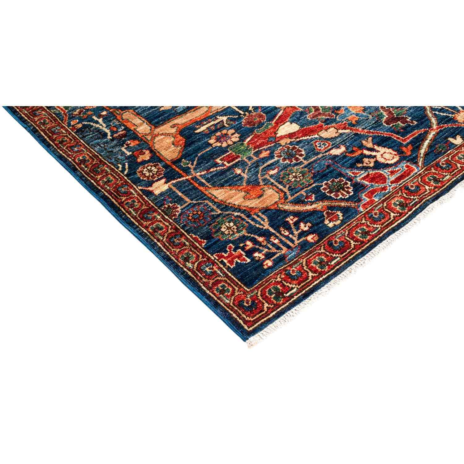 Navy Solo Rugs Serapi Hand Knotted Area Rug 5 0 x 7 10
