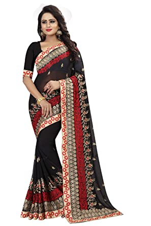 Amazon Odhni Indian Designer Black Coding Embroidery And Heavy