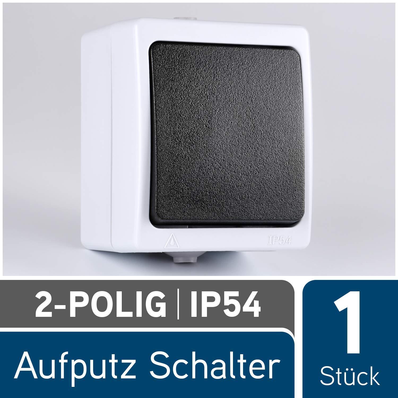 Feuchtraum-Aufputz-Schalter IP54 10A