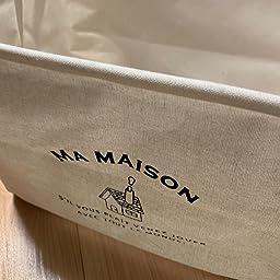 Amazon Co Jp 収納ボックス 布 収納バスケット ランドリー バスケット ケース おもちゃ収納 おりたたみ式 綿麻製 小物入れ 2個セット 北欧風小屋 ホーム キッチン