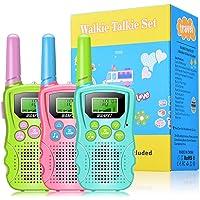 WANFEI Walkie Talkies Niños, Walky Talky Niños 3KM Largo Alcance con 8 Canales Función de VOX Linterna LCD, Inalámbrico…
