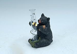 Rain Gauge - Decorative Black Bear Garden Rain Gauge