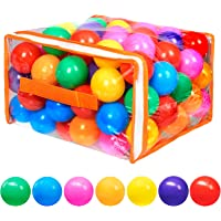 Vanland 100 Ball Pit Balls for Baby and Toddler Phthalate Free BPA Free Crush Proof Plastic - 7 Bright Colors in…