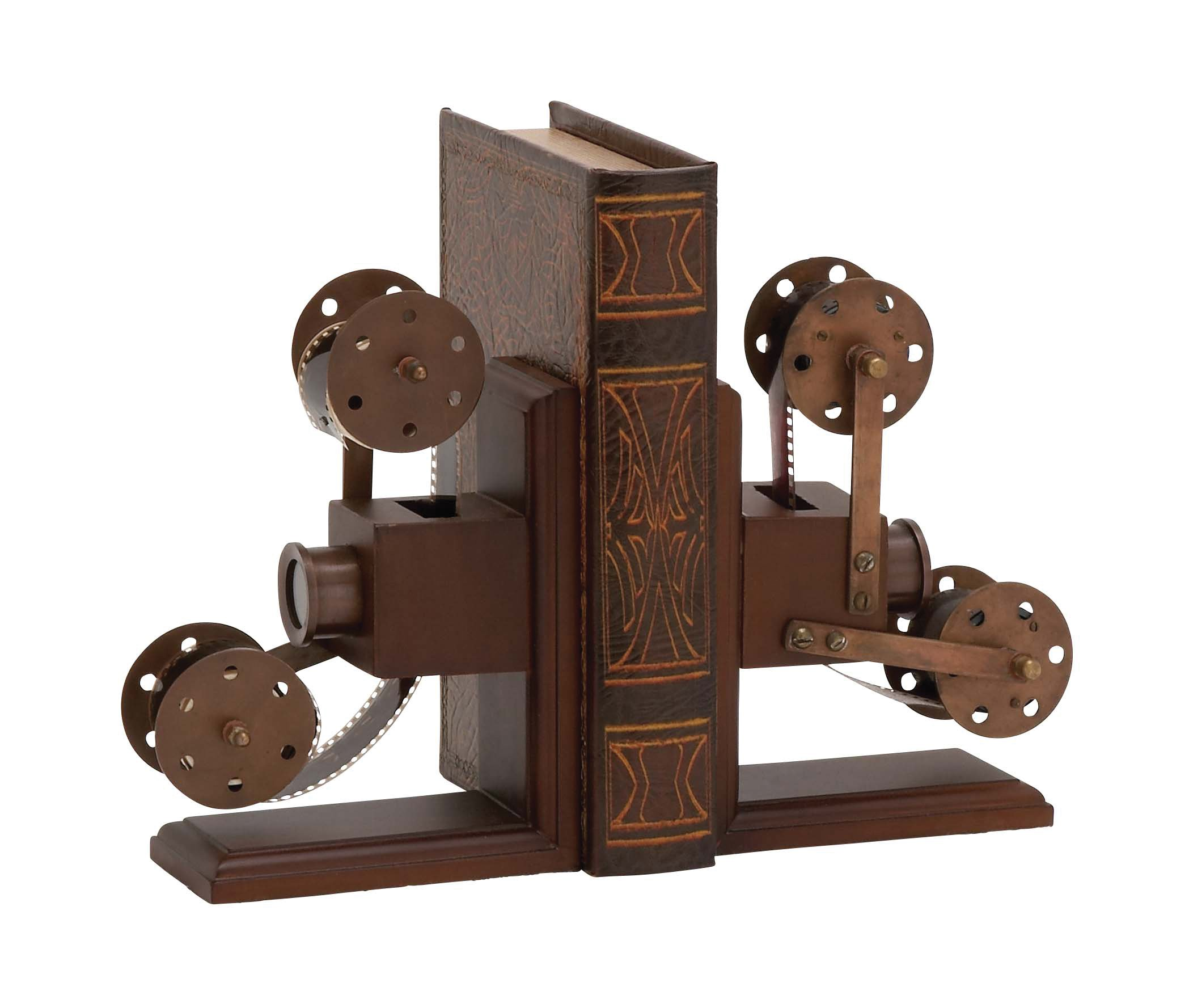 Plutus Brands The Classic Wood Metal Book End