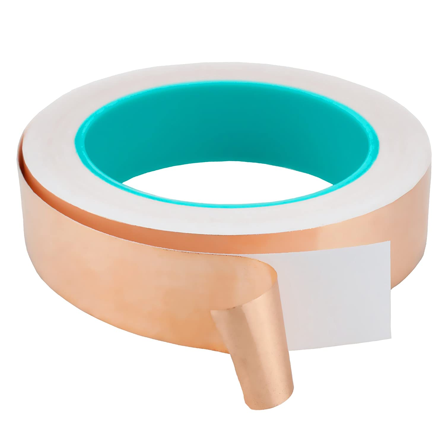 1 Inch x 21.87 Yards Copper Foil Tape with Double Side Conductive Adhesive for Slug Repellent, Crafts, EMI Shielding, Electrical Repairs, Paper Circuits,etc