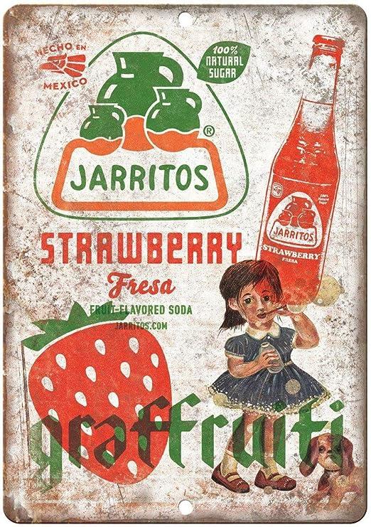 Mulica Jarritos Strawberry Fresa Soda Placa de Metal Vintage ...