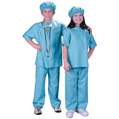 Doctor Scrubs Deluxe Kids Costume: Toys & Games