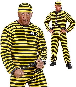 JGA Sträflingskostüm Sträfling Kostüm Verbrecher Häftlingskostüm Gefangener