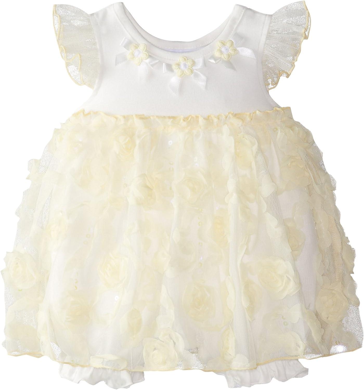 Bonnie Baby Baby-Girls Newborn Yellow Bonaz Coverall Dress
