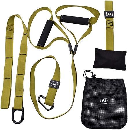 Suspensión traine asas, Kit de entrenamiento para gimnasio en casa entrenamiento artes marciales mixtas CrossFit de resistencia Entrenamiento