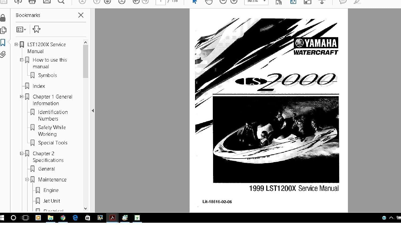 Amazon.com: Yamaha jet Boat LS2000 LST1200 Manual Library 1999 -2003:  Everything Else