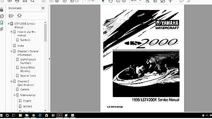 Amazon.com: Yamaha jet Boat LS2000 LST1200 Manual Liry ... on