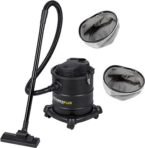 Aspiradora de cenizas 1200 W, 20 litros POWX308, incluye 2 filtros ...
