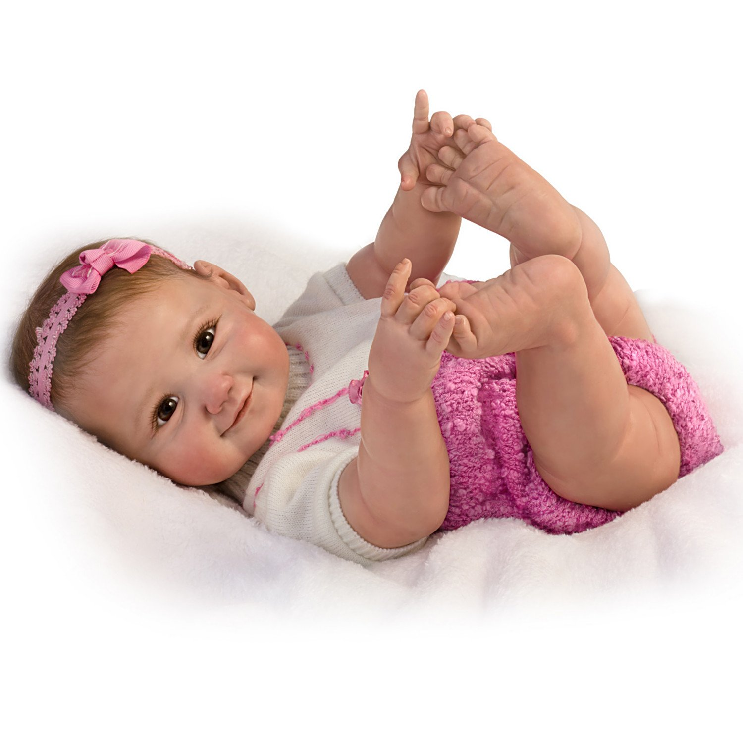 Ashton-Drake So Truly Real 10 Little Fingers, 10 Little Toes Poseable Baby Doll by The Ashton-Drake Galleries by The Ashton-Drake Galleries