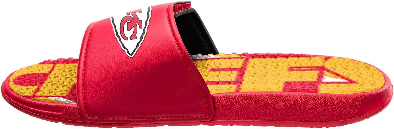 FOCO Mens Team Gel Sport Shower Sandal Slides