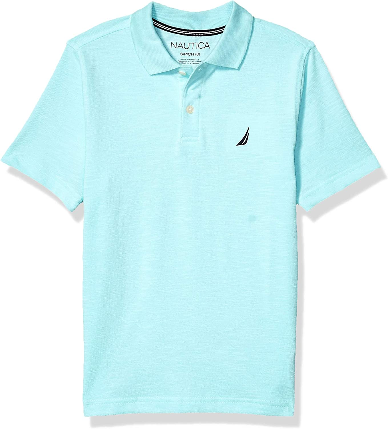 Nautica Boys Big Heathered Basic Polo