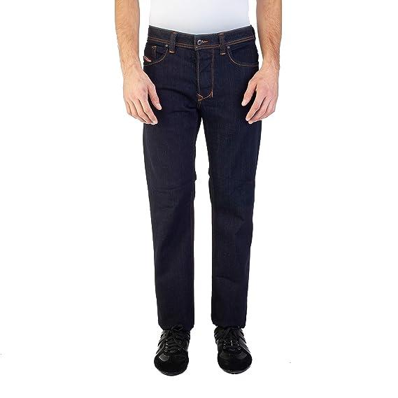 5f56b435 Diesel Mens Larkee Relaxed Regular Straight Jeans in Dark Denim: Diesel:  Amazon.co.uk: Clothing