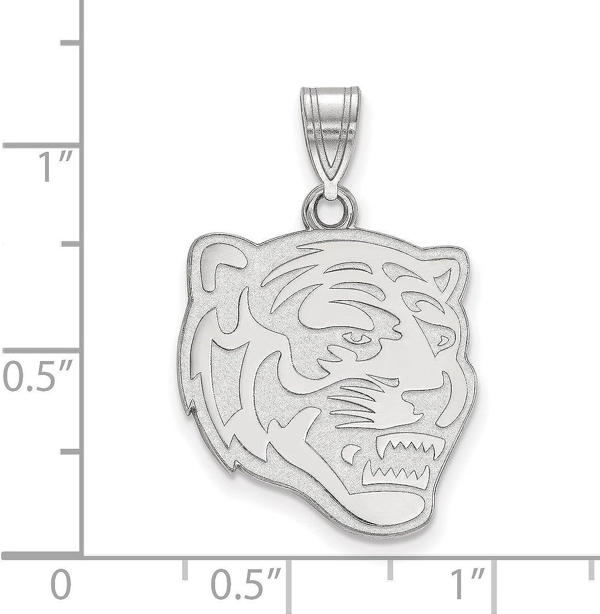 University of Memphis Tigers School Mascot Head Pendant in Sterling Silver