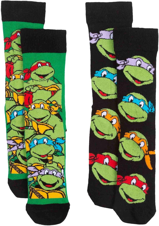 Official Teenage Mutant Ninja Turtles Assorted Adult Socks (2 Pairs) - One Size