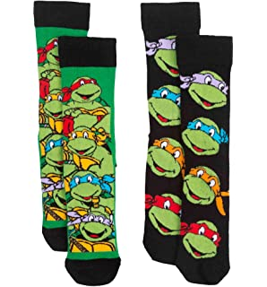 ef9d1157ee80 Teenage Mutant Ninja Turtles Casual Crew Socks 2 Pair Pack Grey ...
