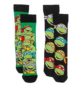 Teenage Mutant Ninja Turtles y1h306 Hombres de Calcetines ...