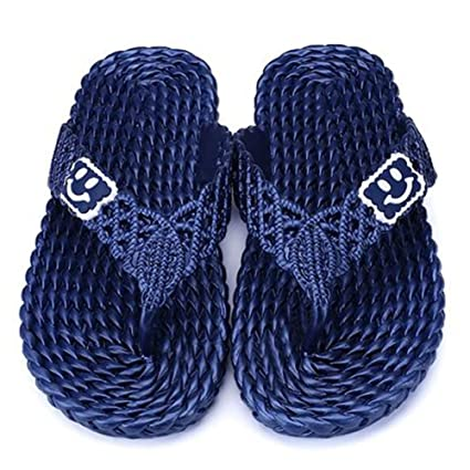 73de43cda7d6b Image Unavailable. Image not available for. Color  QIDI Sandals Men Summer  Non-Slip Wear-Resistant Pure Color Beach Shoes Slippers (
