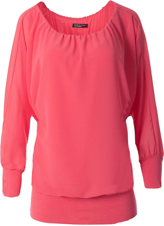 FASHION YOU WANT Damen Oversize Oberteile Tshirt//Pullover Gr/ö/ße 34 bis 50 Uni /Übergr/ö/ßen Shirt Langarm