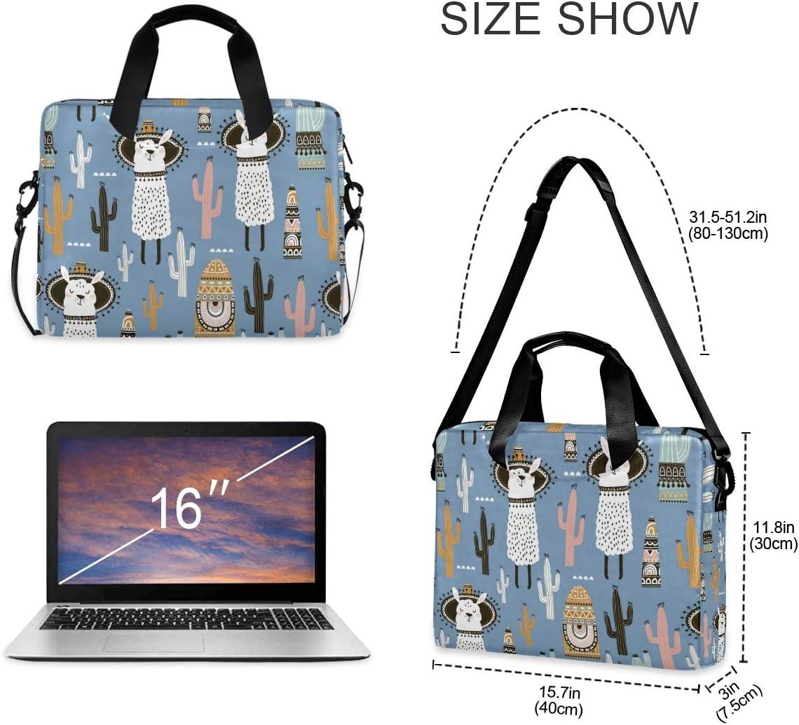 Laptop Bag Llama Shoulder Messenger Laptop Case Sleeve Llama Cactus Computer Bags 14//15//15.6 Inch for Men Women