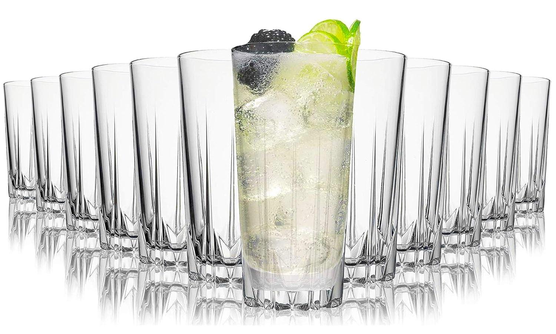 Set aus 12 Sp/ülmaschinenfest Kristallgl/äser 330 ml Tivoli Miami Saftgl/äser Hochwertige Gl/äser