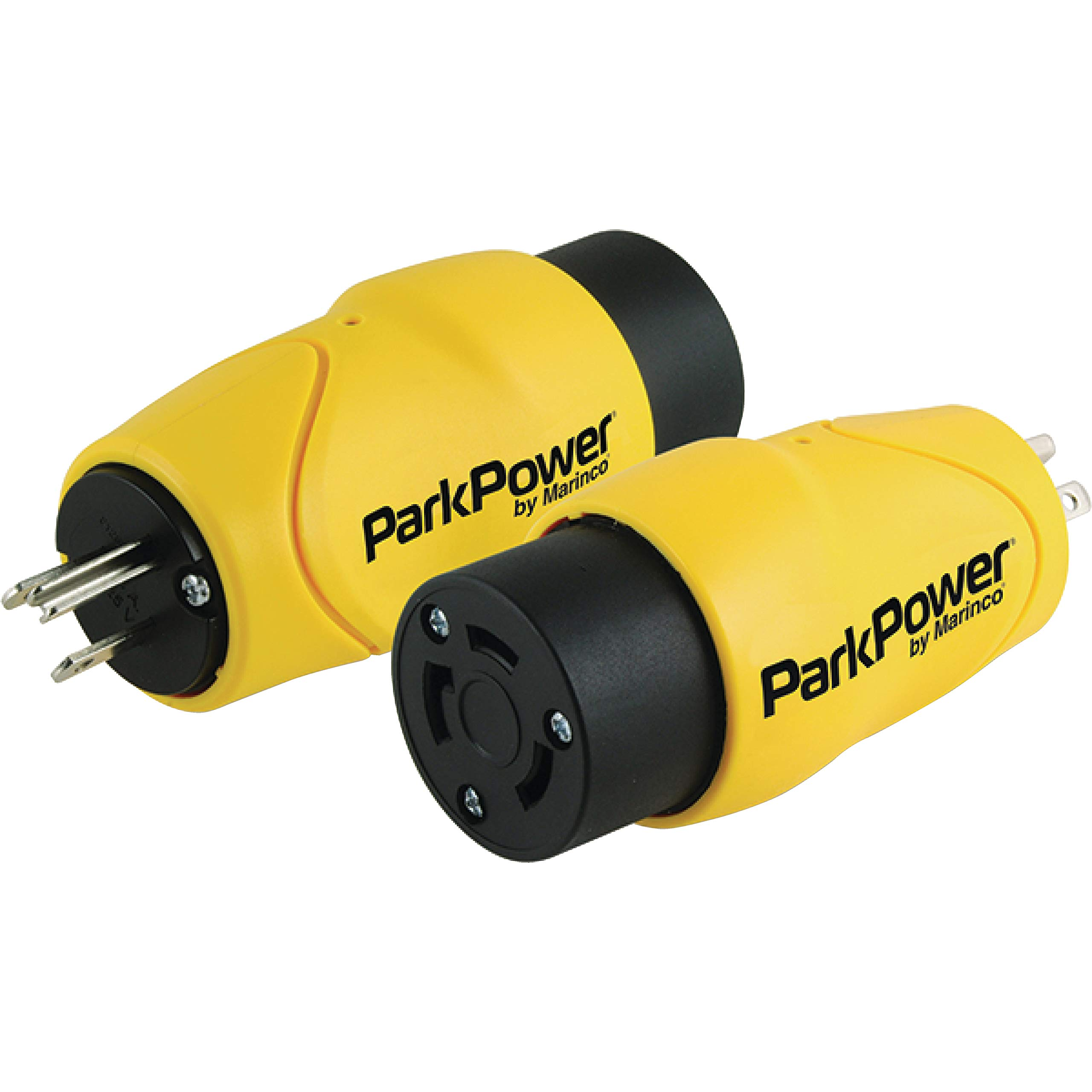 Marinco ParkPower 15 Amp, 125V Straight-Blade Male Plug to 30 Amp, 125V Locking Female Side One-Piece Twist-Lock Adapter