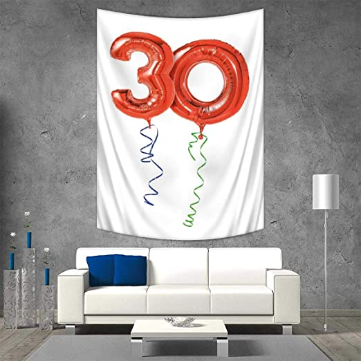 Anhuthree - Tapiz de Pared para 30 cumpleaños, impresión 3D ...