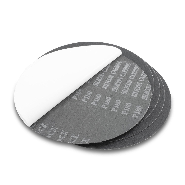 CRL 6 120 Grit PSA Stick-On Sanding Discs 50 pack