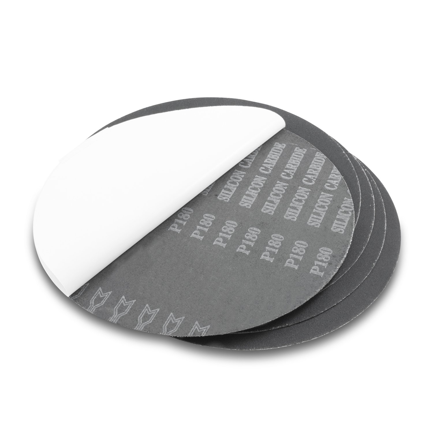 9 Inch 120 Grit Adhesive Back Silicon Carbide Sanding Discs, 5 Pack