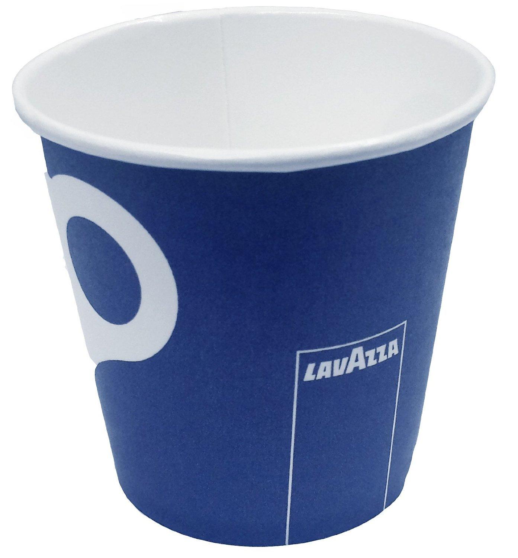 100 X Lavazza Espresso Paper Cups + sip lids- Capacity 4oz