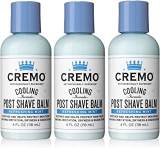 product image for Cremo Cooling Post Shave Balmto Sooth, Cool and Protect Skin From Shaving Irritation, Dryness and Razor Burn, 4 Ounce (Pack of 3)