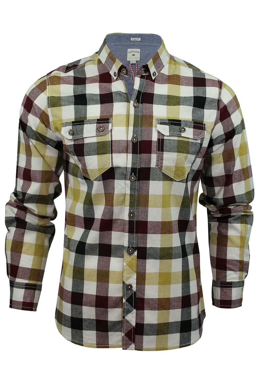 Lee Cooper Hadleigh - Camisa de manga larga para hombre, diseño de cuadros