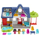 Fisher-Price Little People Friends Together Play House, Electronic playset with Smart Stages Learning Content for Toddlers an