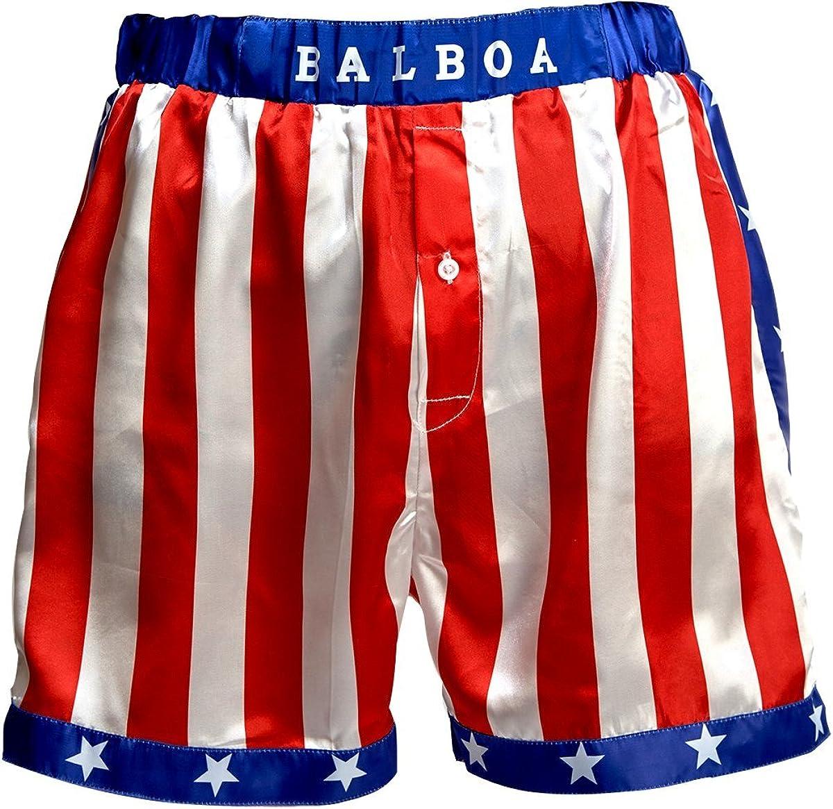 8tees - Rocky Balboa Pantalones Boxeo con caja exclusiva de Rocky IV - Disfraz Rocky Balboa-M: Amazon.es: Ropa y accesorios