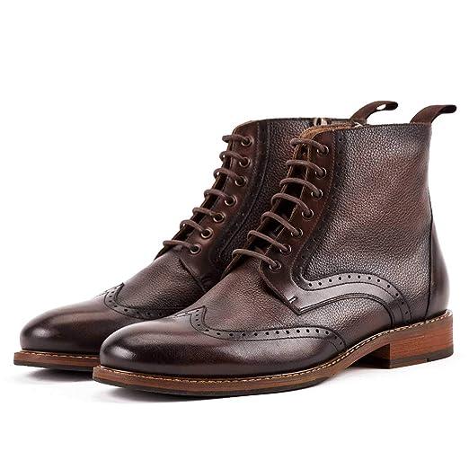 Shoe house Derby de los Hombres Oxford Botas Perforada ala ...
