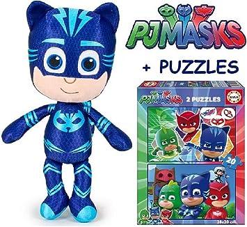 PJ MASKS Peluche Gato boy +PJ MASKS Puzzle