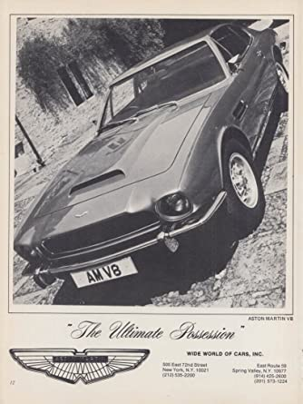 The Ultimate Possesion - Aston Martin V8 ad 1978