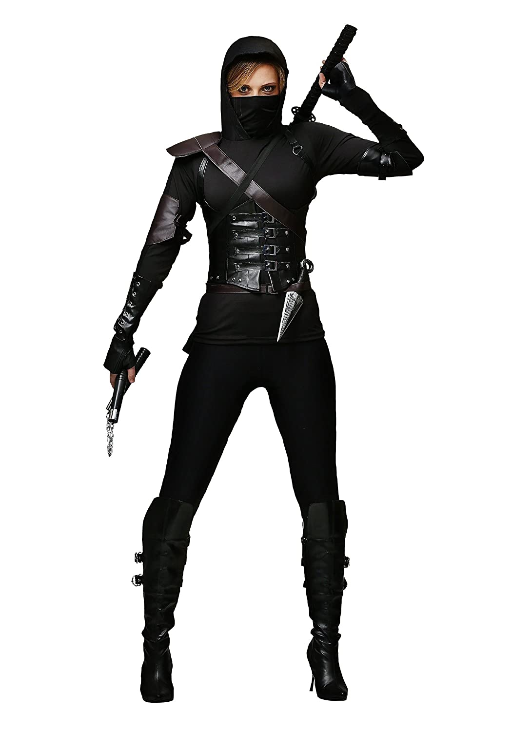 Womens Ninja Assassin Fancy dress costume Small: Amazon.es ...