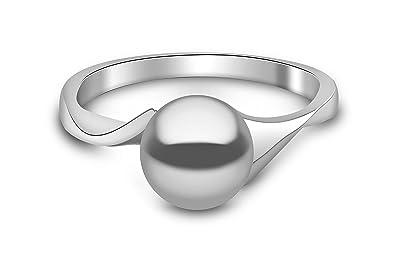 Kimura Cultured Black Freshwater Pearl Ring, 9 ct