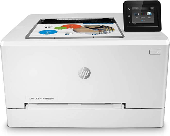 HP Color LaserJet Pro M255dw Wireless Laser Printer, Remote Mobile Print, Duplex Printing (7KW64A), White, One Size (7KW64A#BGJ)