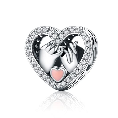 Fashion Jewelry Sensible Fashion Women Lady Silver Plated Crystal Bangle Love Heart Charm Bracelet Gl Available In Various Designs And Specifications For Your Selection
