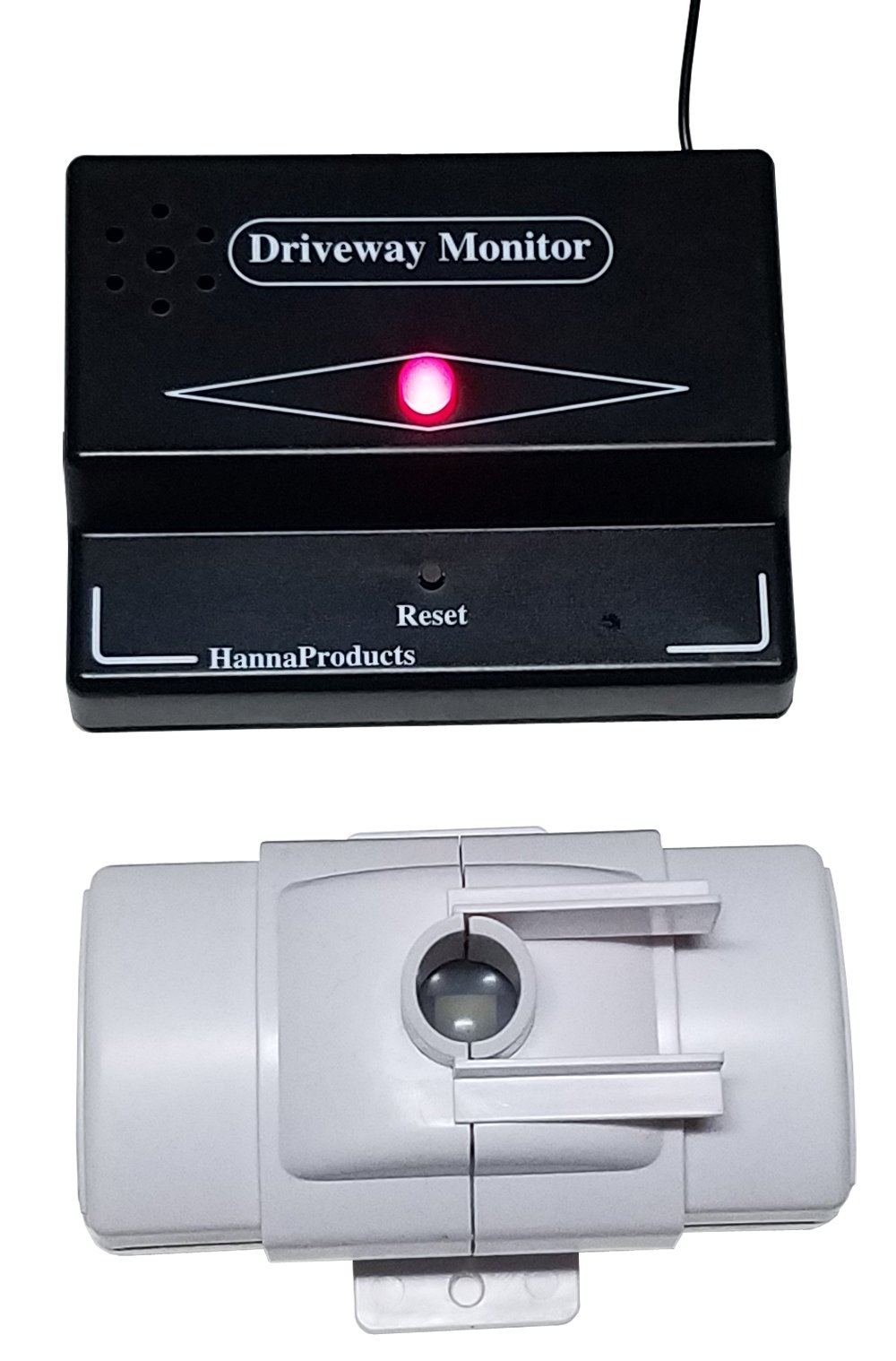 Hanna Products Driveway Monitor Model 1800 - Home Security Protection both indoors and outdoors - New design feature with variable shutters that controls detection area.