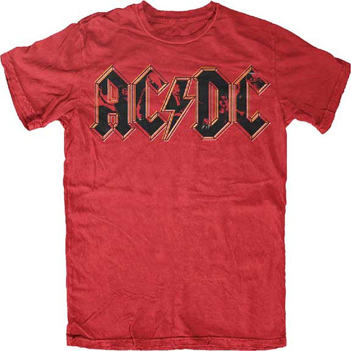 AC/DC - Photo Logo T-Shirt 2X-Large Red